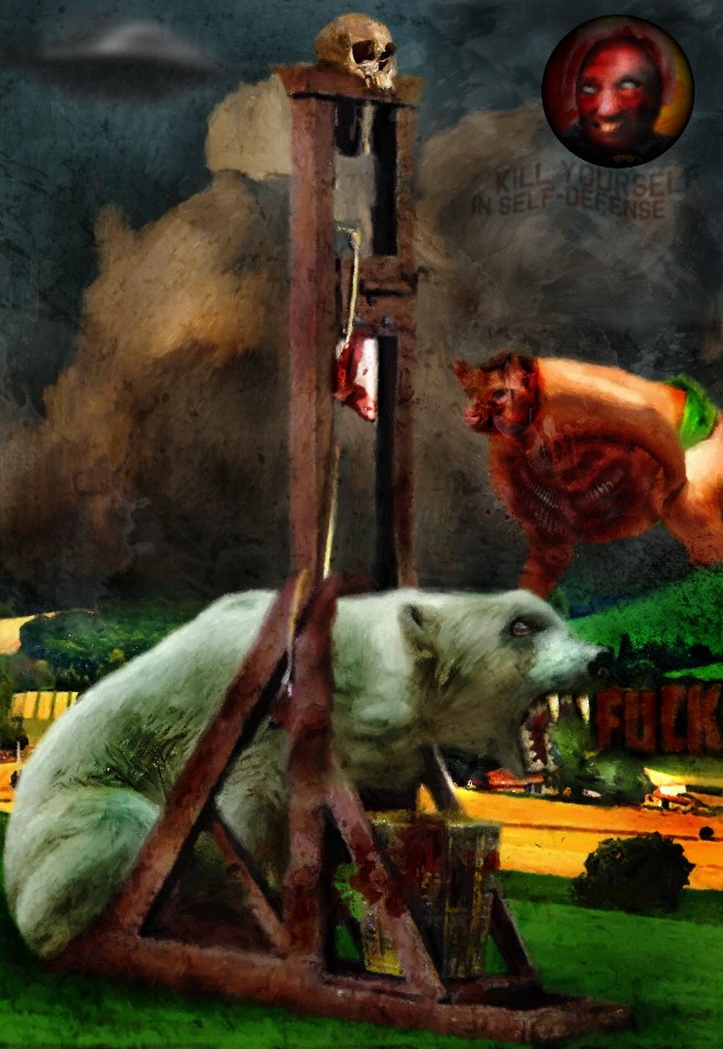 odd art killing of polar bearsel scorcho artist save polar bears